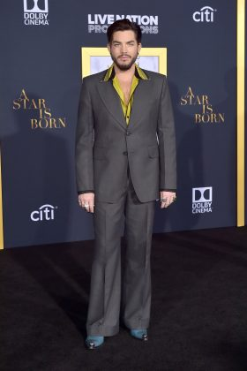 "Adam Lambert at the Los Angeles premiere of ""A Star Is Born"". (Photo: WENN)"