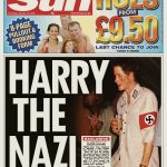 "In 2005, The Sun published a front-page photo of Prince Harry wearing a Nazi armband, apparently at a costume party. ""Prince Harry has apologized for any offence or embarrassment he has caused,"" a statement read. (Photo: WENN)"