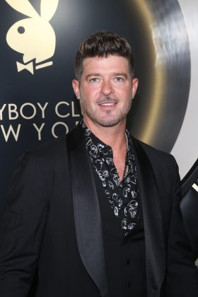 Robin Thicke and girlfriend April Love Geary's Malibu home sadly burnt down on Saturday. (Photo: WENN)