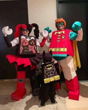 """They got candy? LEGO!"" Justin Timberlake captioned this picture of their family costume. (Photo: Instagram)"