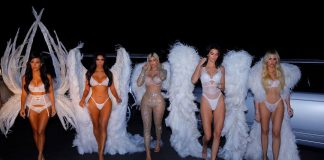 All the Kardashian-Jenner sisters dressed up as Victoria's Secret Angels, wearing actual wings straight from the runway. (Photo: Instagram)