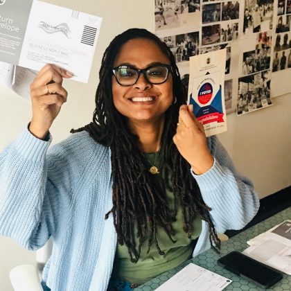 Director Ava Duvernay urged her fans to vote with a picture of her own ballot. (Photo: Instagram)