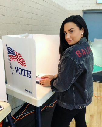 Demi Lovato Broke her social media silence entering rehab to send an important message on Election Day. (Photo: Instagram)