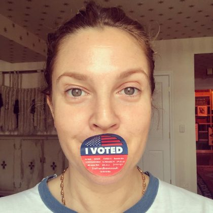 Drew Barrymore made sure all her followers new she voted. (Photo: Instagram)