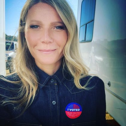 Gwyneth Paltrow didn't take her right for granted and went out to vote. (Photo: Instagram)