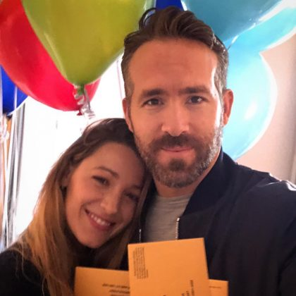 Ryan Reynolds and Blake Lively celebrated his birthday casting an early vote. (Photo: Instagram)