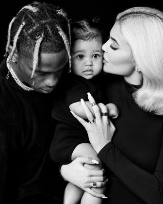 "Kylie Jenner posted a rare family portrait alongside Stormi and ""hubby"" Travis Scott. (Photo: Instagram)"