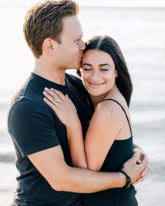 Lea Michele said she feels thankful for her fiancée, Zandy Reich, and celebrated their love with this sweet picture. (Photo: Instagram)