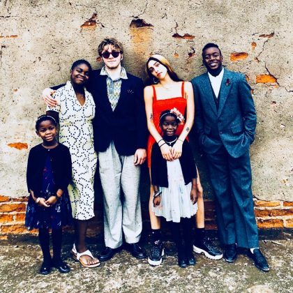 Madonna said she's thankful for her kids and posted a picture posing with her numerous family. (Photo: Instagram)