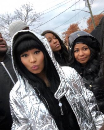 Nicki Minaj shared a picture of her Thanksgiving celebration along her mom. (Photo: Instagram)