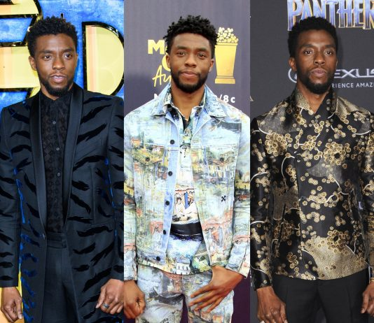 He's the fair ruler of Wakanda. But Chadwick Boseman's style also makes him the king of red carpets. (Photo: WENN)