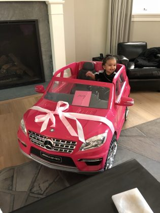 In honor of his baby's 1st birthday, daddy Rob Kardashian gifted Dream her very first Mercedes pink G-Wagon. (Photo: Instagram)