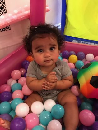 Amid his legal battle with ex Blac Chyna, Rob shared a sweet of her baby girl having a ball! (Photo: Instagram)