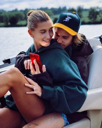 In July, Hailey and Justin shocked the world when they announced their sudden engagement. (Photo: Instagram)
