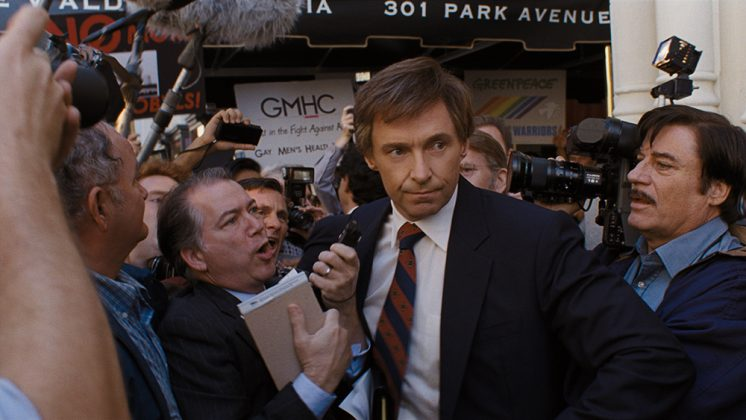 "Hugh Jackman is currently promoting his most political film to date, ""The Front Runner."" (Photo: Release)"