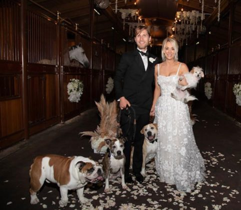 Kaley Cuoco's wedding was an animal loving affair. (Photo: Instagram)