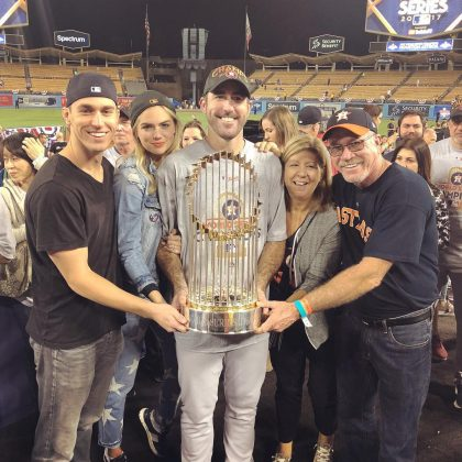 The couple celebrate their wedding just days after he helped the Houston Astros win their first-ever World Series. (Photo: Instagram)