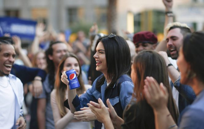 Kendall was accused of undermining the Black Lives Matter movement after handing a can of Pepsi to a police officer during a protest in a Pepsi commercial in 2017. (Photo: Release)