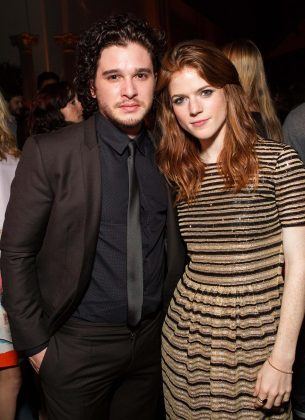 "Kit Harington and Rose Leslie met in 2012 in the set of ""Game of Thrones."" (Photo: WENN)"