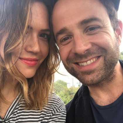 "Mandy and Taylor met on Instagram, when she posted a picture of Dawes' latest album. ""Somehow, Taylor saw it and sent a note to me. We started emailing back and forth, then we went on a date and the rest is history."" (Photo: Instagram)"