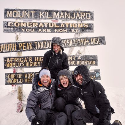 Getting married isn't their first milestone together. In march, the couple conquered a pretty big athletic accomplishment together: hiking Mount Kilimanjaro! (Photo: Instagram)