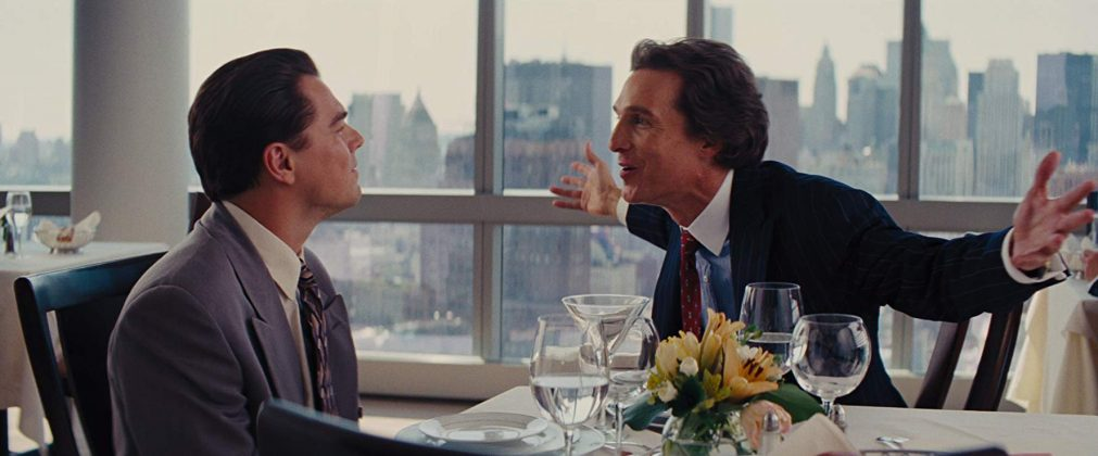 "In 2013, Matthew McConaughey star opposite to Leonardo DiCaprio in Martin Scorsese's ""Wolf of Wall Street"" in the role of Mark Hanna. (Photo: Release)"