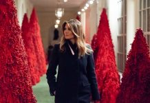 Click through our photo gallery to see the best reactions to Melania Trump's red Christmas trees. It's beginning to look a lot a bloody Christmas. (Photo: Twitter)