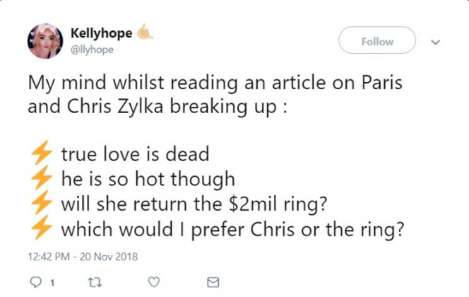 Ring over Chris any day! (Photo: Twitter)