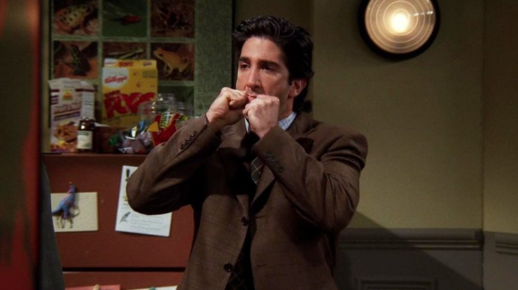 Because he had some serious anger problems. Remember the time Ross absolutely flipped when he found out that his coworker had eaten the sandwich Monica made him out of Thanksgiving? Yeah, that was way too much. (Photo: Release)