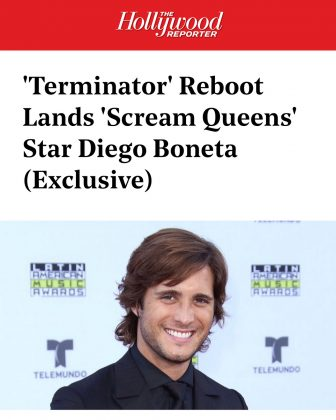 "You can catch Diego Boneta in the upcoming ""Terminator"" movie. He nabbed a key (and human) role in the revival of the franchise. (Photo: Instagram)"