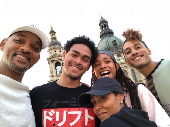 Trey Smith celebrating Father's Day along with his dad, Jada, and Willow in a family trip to Budapest, Hungary. (Photo: Instagram)