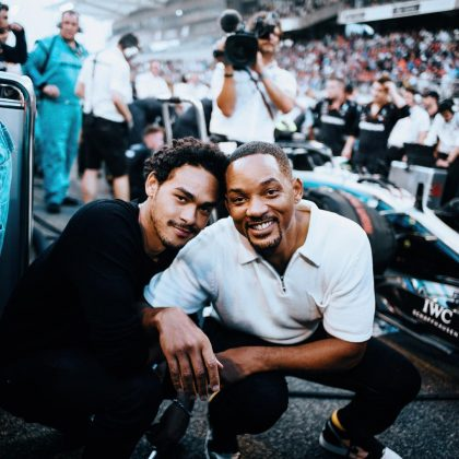 "Will Smith and his eldest son ""kicking off Monday"" watching Formula 1 in a father and son trip to Abu Dhabi, United Arab Emirates. (Photo: Instagram)"