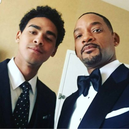 Will Smith looking draper, ready to walk down the red carpet of the 2016 Golden Globes with his son Trey. (Photo: Instagram)