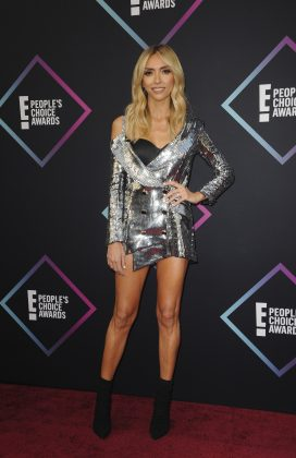 Giuliana Rancic's silver mini is another example of too much. The different cuts, some peek-a-boo on the left and lots of shin and structure. (Photo: WENN)
