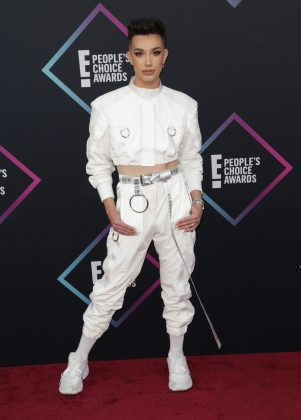 James Charles won Favorite Beauty Influencer of 2018, but landed in our worst-dressed list. (Photo: WENN)