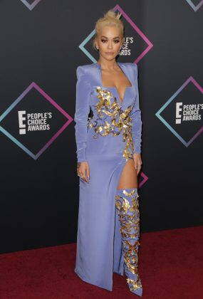 Rita Ora's dress is gorgeous. But her hair is giving us some serious Malfoy vibes. (Photo: WENN)