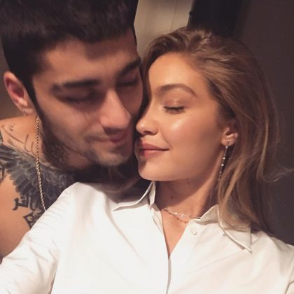 """Everything is great,"" Zayn said of their relationship. ""She's super-organized and I'm really not. It helps that she can get things together for me a little bit. I lean on her a lot."" (Photo: Instagram)"