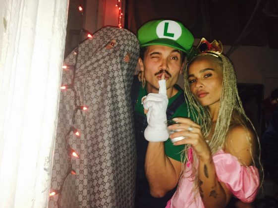 Luigi and her Princess Peach celebrating Halloween. (Photo: Instagram)