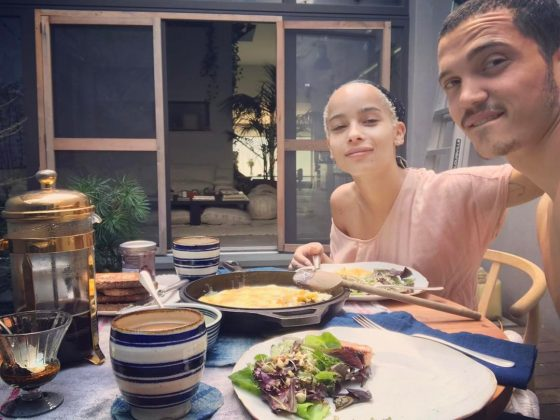 Zoe and Karl celebrating Easter with a delicious brunch. (Photo: Instagram)