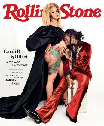 Kulture made it into the Rolling Stone magazine cover way before she was even born when her mom and dad posed for the outlet. (Photo: Instagram)