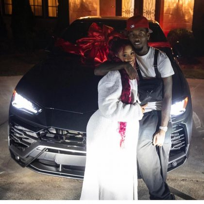 Offset kicked off Cardi B's birthday with a brand-new Lamborghini SUV decorated with a big red bow. (Photo: Instagram)