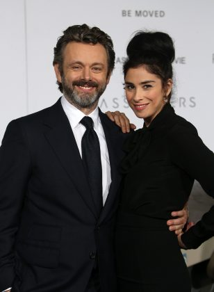 "After nearly four years of dating, Michael Sheen and Sarah Silverman announced in February that they had split. ""No fight. We just live in different countries & it got hard. Felt we should just tell y'all so u stop askin, 'How's Michale/How's Sarah?'"". (Photo: WENN)"