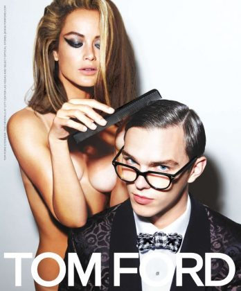 """A Single Man"" isn't the only time Nicholas Hoult has worked with Tom Ford. Walls, posters, department stores, billboards. His face was everywhere when the designer asked him to be the face of Tom Ford Eyewear for the Spring 2010 collection. (Photo: WENN)"