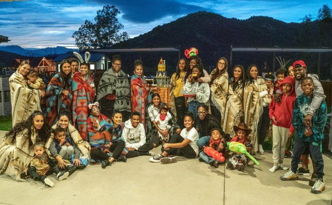 The party controversy started when Kevin's wife Eniko posted a picture of the bash, showing attendees dressed in traditional Native American garb. (Photo: Instagram)