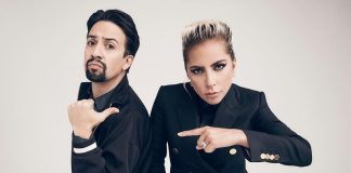 A chit chat session between Lin-Manuel Miranda and Lady Gaga resulted in a photo of the pair pointing at each other. And the reactions are hilarious. (Photo: Release)