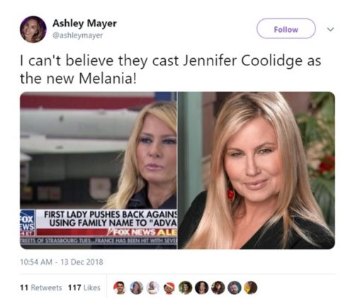 Hey—don't be rude to Jennifer Coolidge! (Photo: Twitter)