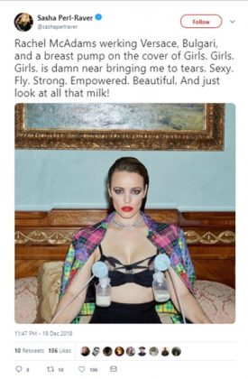 "The picture of Rachel McAdams made women feel por ""empowered."" (Photo: Twitter)"