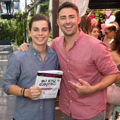 "The ""Wizards of Waverly Place"" cast aren't Jake T. Austin's only famous friends. He's close pals with Jonathan Bennett (a.k.a. Aaron Samuels). Jake even attended the actor's launch of his parody cookbook for ""Mean Girls"" fans. (Photo: Instagram)"