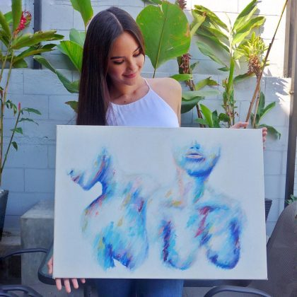 She also paints! Another talent/skill in her arsenal: Catriona is also a skilled painter, and has created artwork to raise fund for her charity, the Paraiso Bright Beginnings Project. (Photo: Instagram)