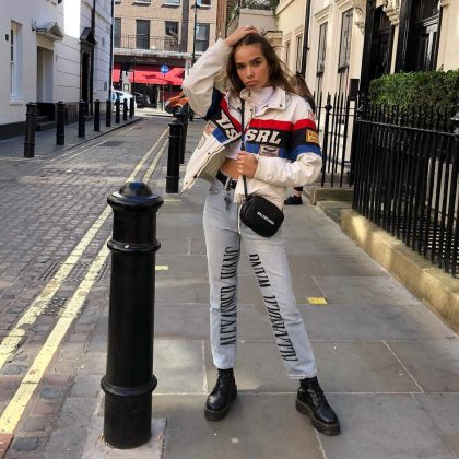 She's one for a designer label. If you go on her Insta page, she's tagged brands such as Burberry, Alexander Wang, Ralph Lauren, Balenciaga, and Fendi in her outfit pics. Victoria must love her expensive taste! (Photo: Instagram)